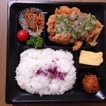 鶏三和 - 旨塩ねぎのしお麹唐揚げ弁当 680円+税