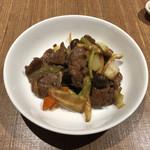 中国薬膳料理 星福 - 高麗人参入り牛肉のオイスターソース炒め