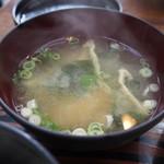 お食事処 いとう - トンテキ定食(みそ汁)