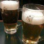 横浜大飯店 - まずはビールで!(ヱビス♫)
