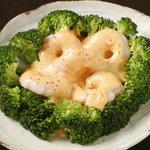 テランガ - 海老とブロッコリーの辛味マヨ和え