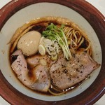 中華そば食堂 IKR51 - 味玉牡蠣干し黒醤油そば(´∀`)