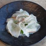 本日鮮魚とラルドのミルフィーユ
