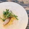 PANORAMA KITCHEN - 料理写真:船上神経〆おばこ鰆 の炙り 春菊、落花生、大根のサラダ添え