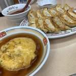 餃子の王将 - 餃子とジャストサイズ天津飯