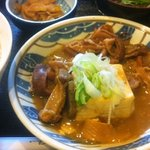 日高 - 2012年2月21日のサービス定食「モツ煮込定食」550円 (^^)