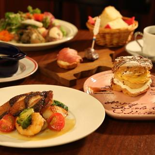 デートや記念日のお祝いには特別なコース料理を