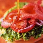 軽井沢フラットブレッズ - ローストビーフサンドウィッチ☆ やわらかいお肉がたっぷり入ったジューシーサンド