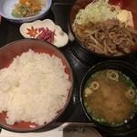 さば銀 - 週変わりランチ牛肉生姜焼き定食