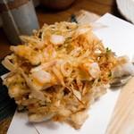 九つ井 - 料理写真:かき揚げ蕎麦のかき揚げ