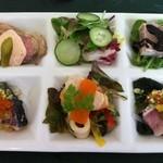 ミルフルール - 料理写真:ランチコース 前菜の盛り合わせ