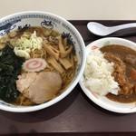 鮫洲運転免許試験場 食堂 - 醤油ラーメン ミニカレーセット:670円