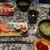 海鮮三崎港 - 料理写真:[料理] (奥) 彩鮪5貫盛 & あおさ汁・(手前) 秋の5貫盛 &  あさり汁