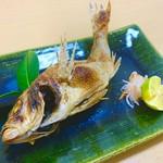 """浜潮 - 白身魚の最高峰であり、日本一美味い魚と言われる高級魚""""のどぐろ"""" のどぐろの味を最大限に引き出す、天然塩焼きがお勧めです。"""