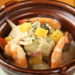波平キッチン - 本日のおすすめ「サツマ芋ニョッキと海老のクリームソース」