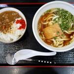 大福うどん - 料理写真:牛すじカレー丼+うどん