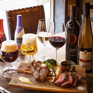 種類豊富なワイン、スパークリングを20種以上グラスでご提供!