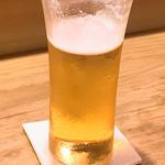 明日香 - 生ビール 少し飲んだ