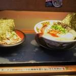 すごい煮干ラーメン凪 - 回転寿司的レーンでやってきた。これを飛行と呼ぶ!