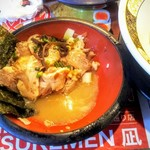 すごい煮干ラーメン凪 - ローストポーク丼にラーメンスープを入れておじや!定番の楽しみ方!