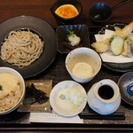 蕎香 - 料理写真:平日お昼限定「蕎花ご膳」当店で人気のメニューが一度に楽しめます♪