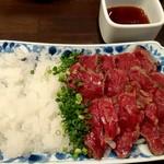 taishuubanikusakabafujiyama - 馬肉のたたき 980円
