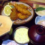 味のなかた - シーフードフライ定食1300円