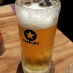 炭火焼き酒場 七拍子 - ビールはサッポロです。二重◎