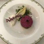 S.S.コロンビア・ダイニングルーム - 料理写真:スモークサーモンとリゾーニのガトー仕立て