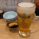 117191813 - ビールとお通し