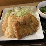 味熊 - 白身魚のフライととんかつ