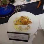 リューバンカフェ - 今週のお肉 豚フィレ肉のローストと朝採れ野菜 さつま芋のクレープ包み ハニーマスタードソース