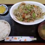 でいご - フーチャンプルー炒め定食600円