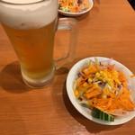 インディアンレストラン サイノ - セットのサラダ