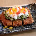 SHARI - SHARI風豚カツ オクラと長芋のソース