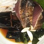 酒と肴 SUIGEI - 19/10 鰹と茄子のたたき:880円