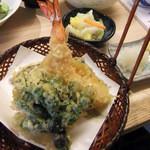 坊野 - 天ぷら定食の天ぷら
