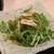 良彌 - 料理写真:[料理] 水菜と湯葉のサラダ プレート 全景♪W
