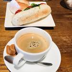 ブーランジェリー イノウエ - イートインしたサンドイッチとベーグル(^O^)