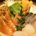 くずし割烹と個室 庵 - 豪華海鮮塩ちゃんこ鍋・海鮮コース 料理9品