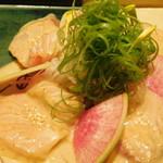 くずし割烹と個室 庵 - 胡麻カンパチ・海鮮コース 料理9品