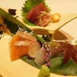 kuzushikappoutokoshitsuiori - 本日の御造り3点盛り・海鮮コース 料理9品