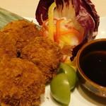 くずし割烹と個室 庵 - ウニコロッケ・海鮮コース 料理9品