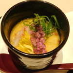 くずし割烹と個室 庵 - カニの茶碗蒸し(本日の一品)・海鮮コース 料理9品
