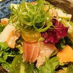 くずし割烹と個室 庵 - 豪華海鮮サラダ・海鮮コース 料理9品