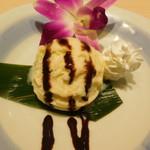 くずし割烹と個室 庵 - バニラアイス(本日の甘味)