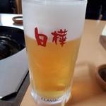 ジンギスカン白樺 - 今回行ったお店は、ほとんどキリンのクラシックでした。 ビールはやっぱり、ビール園のヤツが旨いと思います。
