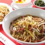 香港厨房 - 葱そば+チャーハン