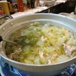 海と - 白砂鍋の大鍋