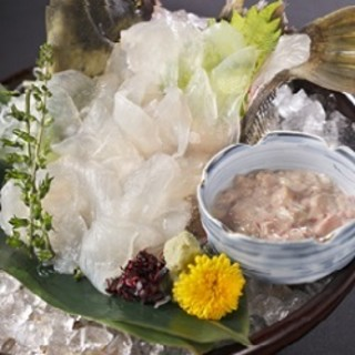 横浜で和食なら!生簀からその場で提供する活魚の活け造り!
